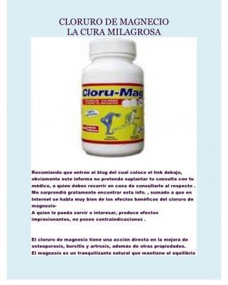 Cloruro De Magnesio, La Cura Milagrosa