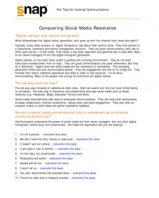 Conquer Enterprize Social Media Resistance