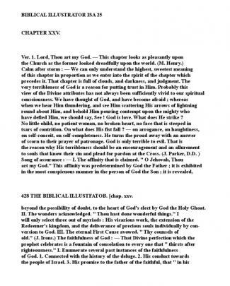 Biblical Illustrator Isa 25