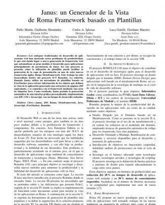 Janus: Un Generador De La Vista De Roma Framework Basado En Plantillas