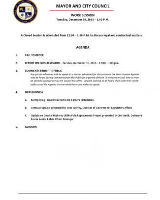 December 10 2013 Complete Agenda