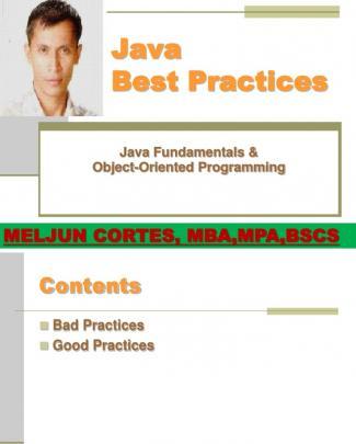 Meljun Cortes Java_bestpractices