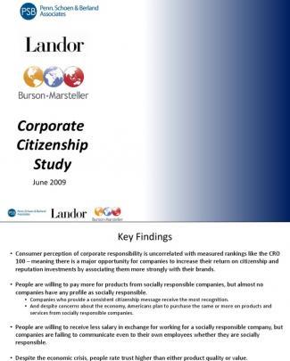 Corporate Citizenship Executive Summary