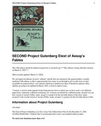 Aesop - Fables