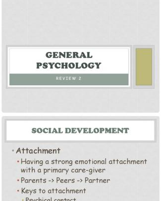 General Psychology Review 2