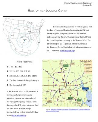 Houston As A Logistics Center