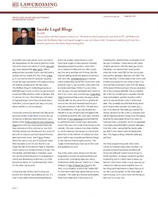 Inside Legal Blogs