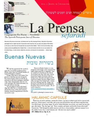 La Prensa Sefaradí | April 2006 Issue