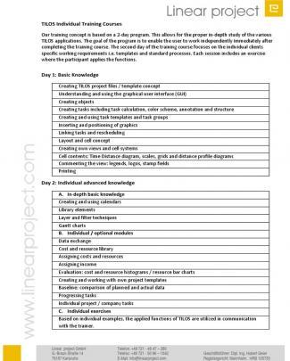 Contents Training Courses Tilos7