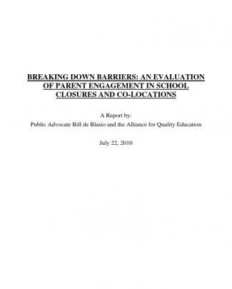Public Advocate Parental Engagement Report - July 2010