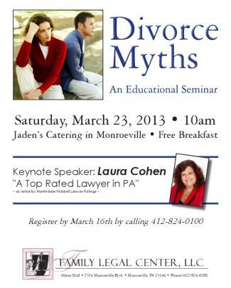 Divorce Myths Seminar Flyer
