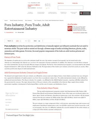 Porn Industry, Porn Trade, Adult Entertainment Industry _ Economy Watch