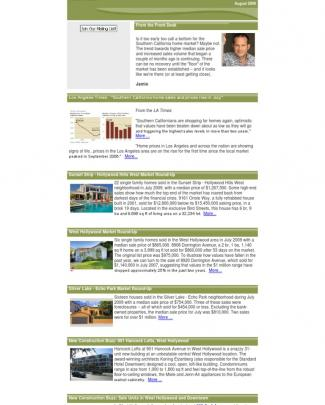 August 2009 -- Los Angeles Property Report
