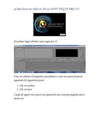 Video En 3d Con Sony Vegas Pro 11
