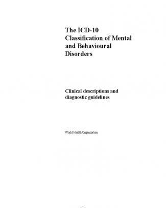 Icd 10. Los Diagnosticos Cie 10 Trastornos Mentales
