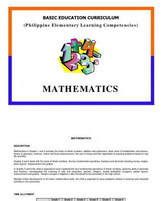 Math Elementary