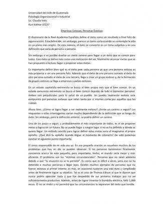 Empresas Exitosas, Personas Exitosas
