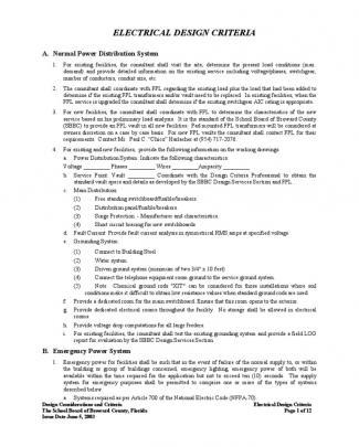 Electrical Engineering Design Criteria (1)
