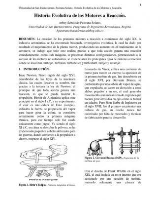 Historia Evolutiva De Los Motores A Reacción.