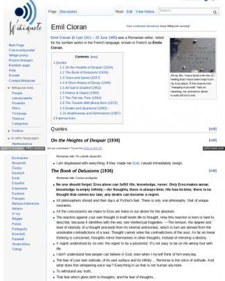Wiki Quote Cioran