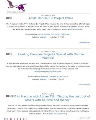 Parallel Project Management Training Podcasts