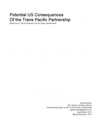 Potential Us Consequences Of The Trans Pacific Partnership