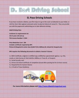 El Paso Driving Schools