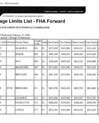Florida Fha Loan Limits 2011