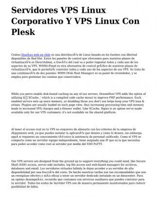 <h1>servidores Vps Linux Corporativo Y Vps Linux Con Plesk</h1>