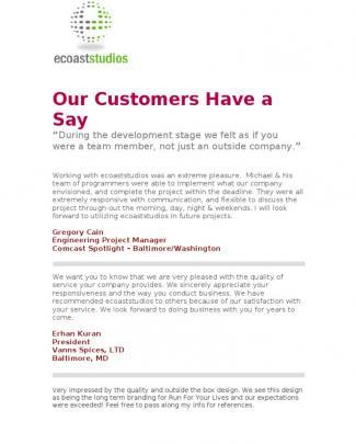 Ecoaststudios Baltimore Website Design