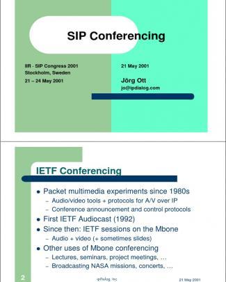 Sip Conferencing