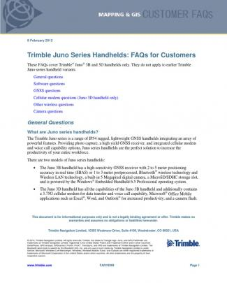 Juno Series Customer Faqs 0212