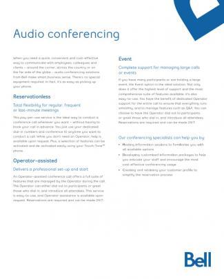 Audio Conferencing
