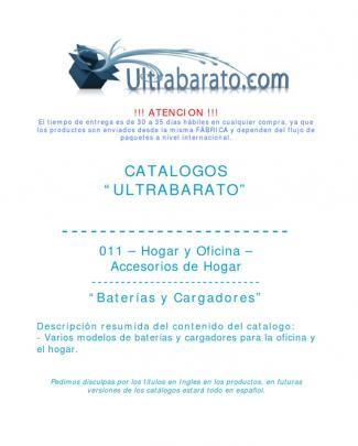 011 - Accesorios De Hogar - Baterias Y Cargadores - Ut