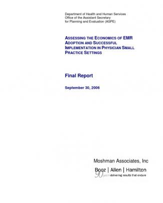 Emr Small Physician Practices Assessment