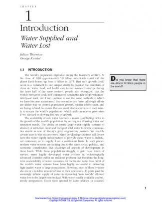 Water Loss Control Manual