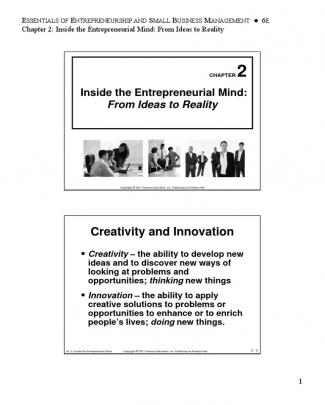 Inside The Entrepreneurial Mind