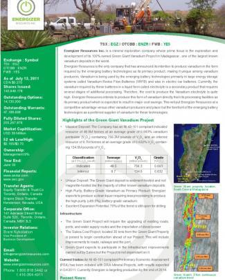 Energizer Resources Inc.