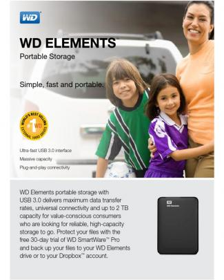 Western Digital Elements Portable Hard Drives