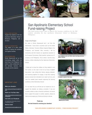 Introduction San Apolinario Elementary School Fundraising Project
