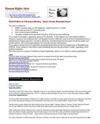 09-09-24 More On Cia Drug Trafficking - Venice, Florida, Municipal Airport