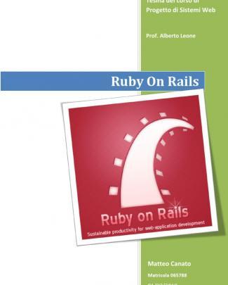 Approfondimento Ruby On Rails