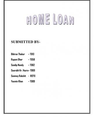 Home Loan Project