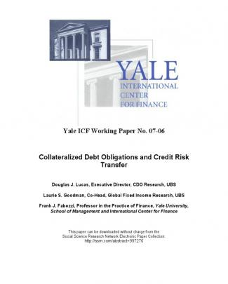 Cdos And Credit Risk Transfer