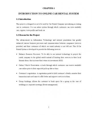 Car Rental M Project Report