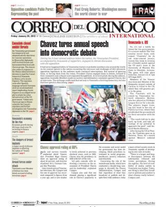 Correo Del Orinoco Friday January 20, 2012 English Edition Coi98
