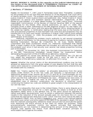 Dizon Vs. Ca-estate Tax