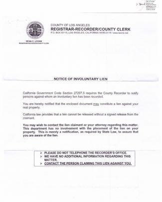 09-07-02 American Express Los Angeles County Registrar Recorder Notice Of Involuntary Lean-s