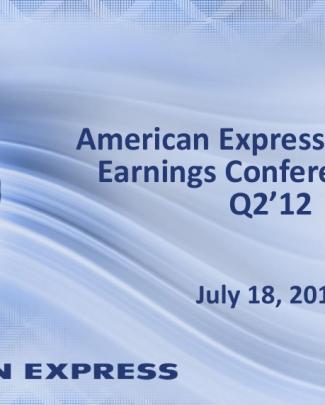American Express Q2'12 Earnings Slides - Final