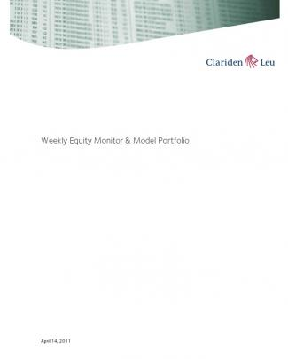 Clariden Weekly Equity Monitor And Model Portfolio 20110414